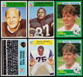 Football Collectibles:Uniforms, 1965-1990 Football Stars & HOFers Card Collection (15). . ...