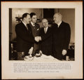 Football Collectibles:Photos, 1933 George Halas, John Mara, Joe Carr, & George White Photograph.. ...