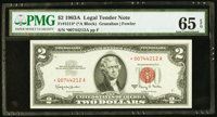Fr. 1514* $2 1963A Legal Tender Star Note. PMG Gem Uncirculated 65 EPQ