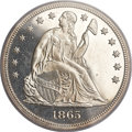 Proof Seated Dollars, 1865 $1 PR63 PCGS. OC-P2, R.3....