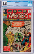 Silver Age (1956-1969):Superhero, The Avengers #1 (Marvel, 1963) CGC FN- 5.5 Off-white to whitepages....