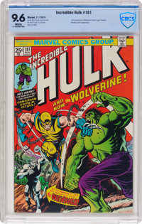 The Incredible Hulk #181 (Marvel, 1974) CBCS NM+ 9.6 White pages