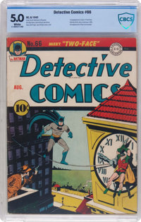 Detective Comics #66 (DC, 1942) CBCS VG/FN 5.0 White pages
