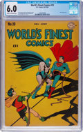 Golden Age (1938-1955):Superhero, World's Finest Comics #19 (DC, 1945) CGC FN 6.0 Cream to off-white pages....