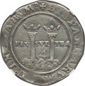 Mexico, Mexico: Charles & Johanna 4 Reales ND (1542-55) Mo-G AU Details(Saltwater Damage) NGC,...