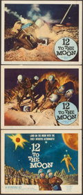 "Movie Posters:Science Fiction, 12 to the Moon (Columbia, 1960). Title Lobby Card & Lobby Cards(2) (11"" X 14""). Science Fiction.. ... (Total: 3 Items)"
