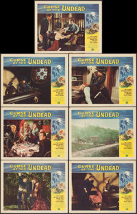 """Curse of the Undead (Universal International, 1959). Lobby Cards (7) (11"""" X 14""""). Horror. ... (Total: 7 Items)"""
