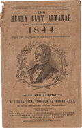 Political:Small Paper (pre-1896), Henry Clay: 1844 Campaign Songbook and Biography. ...