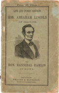 Political:Small Paper (pre-1896), Abraham Lincoln: 1860 Campaign Biography in Pictorial Wraps....