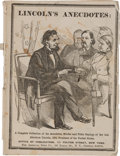Political:Small Paper (pre-1896), Abraham Lincoln: Excessively Rare Joke Book in Pictorial Wraps....
