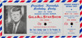 Political:Small Paper (1896-present), John F. Kennedy: Colorful Complete Ticket for his 1962 BirthdayParty. ...