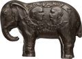 Political:3D & Other Display (1896-present), McKinley & Roosevelt: Jugate Still Elephant Bank in ExceptionalCondition....