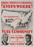 Political:Posters & Broadsides (1896-present), Foster & Ford: Outstanding Jugate Poster Promoting Civil Rights....