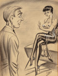 Mainstream Illustration, Bill Ward (American, 1919-1998). It Must Have Taken You a LongTime to Find This Diamond, I Haven't Found It Yet. Charco...