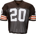Football Collectibles:Uniforms, 1985-86 Don Rogers Game Worn Cleveland Browns Jersey....