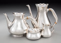 Silver Holloware, Continental:Holloware, A Four-Piece Spritzer & Fuhrmann Silver Tea and Coffee Set,20th century. Marks: (crescent-crown), STERLING, 925, S&F,281... (Total: 4 Items)