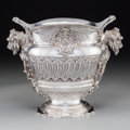Silver & Vertu:Hollowware, A Tane Orfebres French-Inspired Silver Wine Cooler with Cattail and Spaniels' Head Motif, Mexico City, Mexico, 20th century ...
