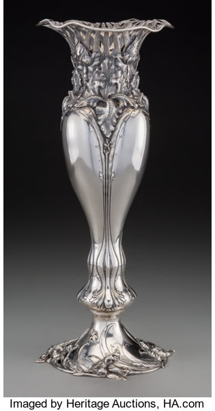 An American Art Nouveau Silver Vase Attributed To Redlich Lot