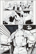 Original Comic Art:Panel Pages, Dave Gibbons Super Soldier #1 Page 6 Original Art (DC,1996)....