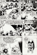 Original Comic Art:Panel Pages, Mike Mignola and Al Milgrom Rocket Raccoon #3 Story Page 21Original Art (Marvel, 1985)....