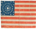 Political:Ribbons & Badges, U.S. Flags: Miniature 40-Star Flag in Great Medallion Pattern....