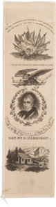 """Political:Ribbons & Badges, William Henry Harrison: Extra-Long Silk Ribbon Captioned """"The People's Choice""""...."""