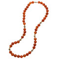 Estate Jewelry:Necklaces, Carnelian, Gold Necklace. ...