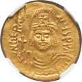 Ancients:Byzantine, Ancients: Heraclius (AD 610-641). AV solidus (4.46 gm). NGC MS4/5 - 2/5, wrinkled, scuff....