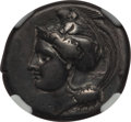 Ancients:Greek, Ancients: LUCANIA. Velia. Ca. 340-280 BC. AR stater (7.46gm). NGC VF 4/5 - 4/5....