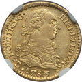 Colombia, Colombia: Charles III gold Escudo 1783 P-SF AU58 NGC,...