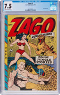 Golden Age (1938-1955):Adventure, Zago #1 (Fox Features Syndicate, 1948) CGC VF- 7.5 Cream to off-white pages....