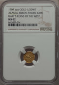 Expositions and Fairs, 1909 1/2 DWT Alaska-Yukon-Pacific Exposition MS62 NGC. Hart's Coinsof the West. Varieties are listed at MEHartGold.com. . ...
