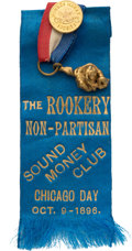 Political:Ribbons & Badges, William McKinley: Most Unusual Sound Money Ribbon Badge. ...