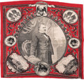 Political:Textile Display (pre-1896), Grover Cleveland: Highly Graphic Single Portrait Bandana. ...