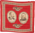 Political:Textile Display (pre-1896), Garfield & Arthur: Jugate Turkey Red Bandana....
