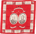 Political:Textile Display (pre-1896), Harrison & Reid: Minty Turkey Red Jugate Bandana....