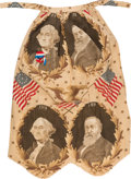 Political:Textile Display (pre-1896), Benjamin Harrison and George Washington: Familiar Jugate TextileFashioned into an Apron. ...
