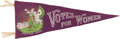 Political:3D & Other Display (1896-present), Woman's Suffrage: Gorgeous Women's Political Union Pennant....