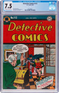 Golden Age (1938-1955):Superhero, Detective Comics #112 (DC, 1946) CGC VF- 7.5 Off-white to white pages....