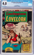 Golden Age (1938-1955):Romance, Confessions of the Lovelorn #53 (ACG, 1954) CGC VG 4.0 Off-whitepages....