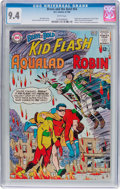 Silver Age (1956-1969):Superhero, The Brave and the Bold #54 Kid Flash, Aqualad, and Robin (DC, 1964) CGC NM 9.4 White pages....