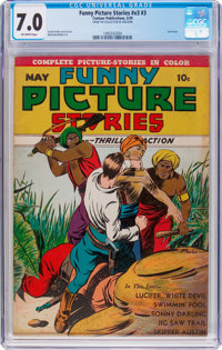 Funny Picture Stories V3#3 (Centaur, 1939) CGC FN/VF 7.0 Off-white pages