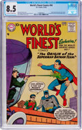 Silver Age (1956-1969):Superhero, World's Finest Comics #94 (DC, 1958) CGC VF+ 8.5 Off-white to white pages....