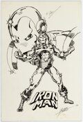 George Perez Iron Man Sketch Original Art (1978) Comic Art