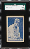 "Baseball Cards:Singles (1950-1959), 1933 Uncle Jacks Candy ""Babe"" Ruth SGC 82 EX-MT+ 6.5.. ..."