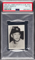 Baseball Cards:Singles (1950-1959), 1955 All American Sports Club Mickey Mantle #442 PSA VG-EX 4....
