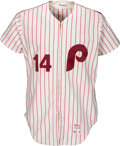 Baseball Collectibles:Uniforms, 1980 Pete Rose Game Worn Philadelphia Phillies Jersey, MEARS A10.. ...