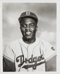 Baseball Collectibles:Photos, Circa 1951 Jackie Robinson Original Photograph Used for 1953 ToppsCard by Barney Stein, PSA/DNA Type 1. . ...