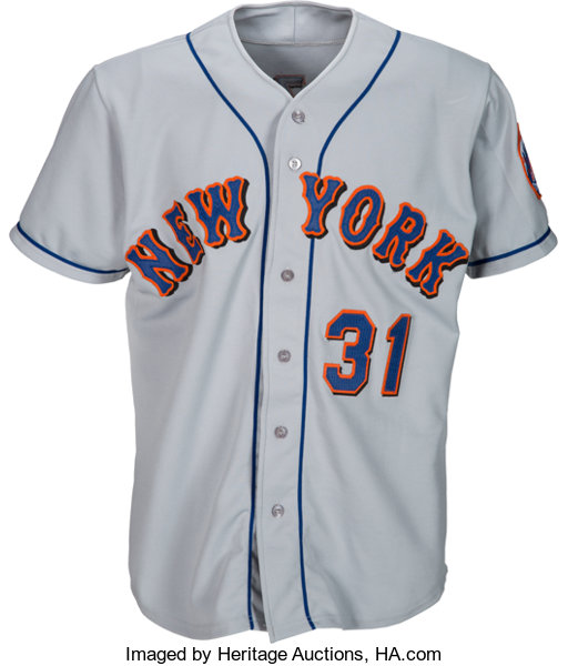 more photos c54aa 1d940 1998 Mike Piazza Game Worn New York Mets Jersey ...