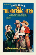 "Movie Posters:Western, The Thundering Herd (Paramount, 1925). One Sheet (27"" X 40.75"") Style A.. ..."